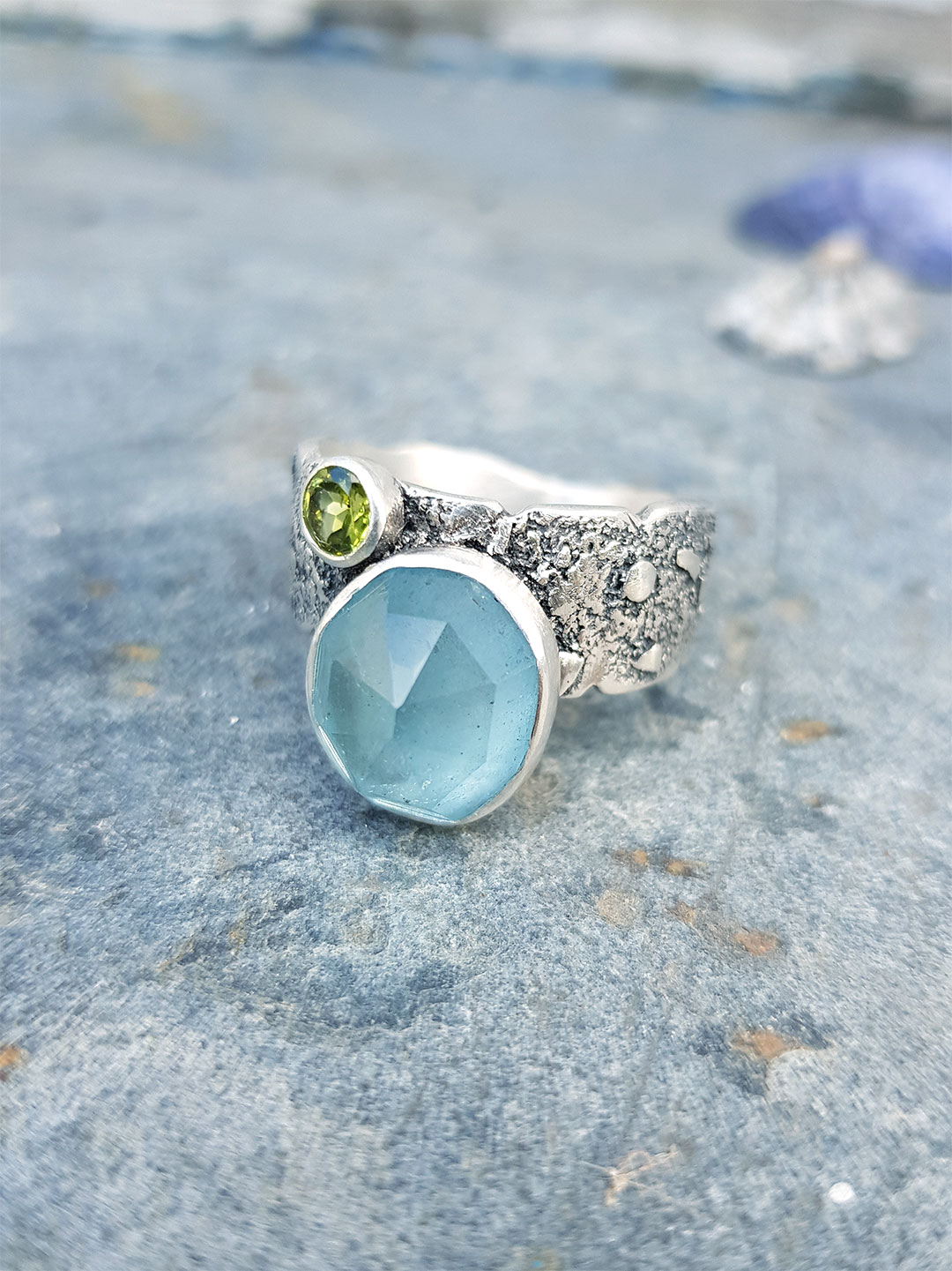 Aquamarine ring commission