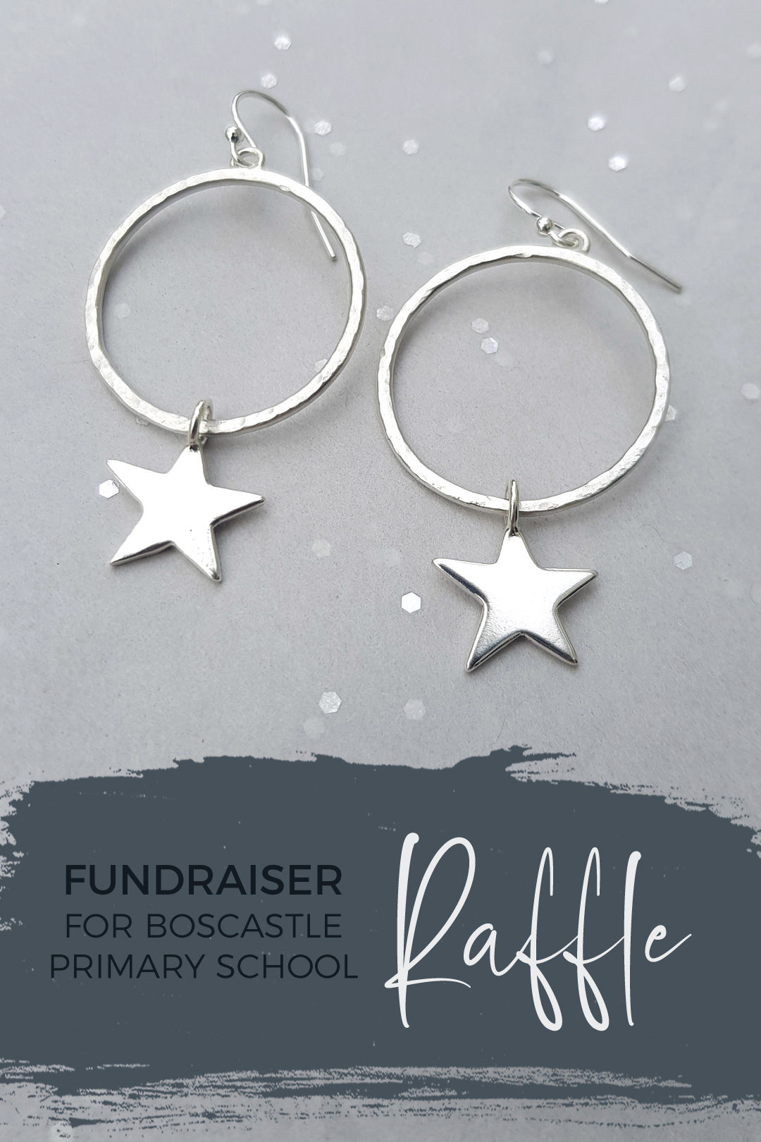 Win earrings in Boscastle School Christmas Raffle