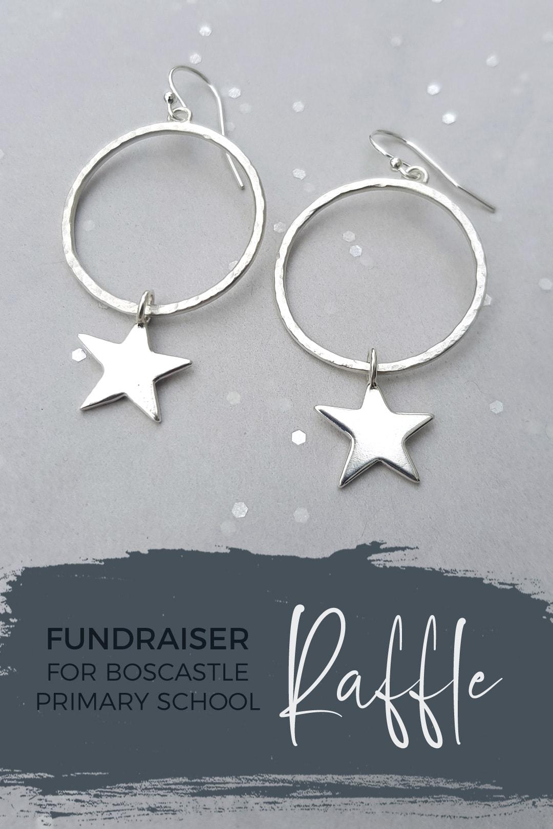 Win earrings in Boscastle School Christmas Raffle