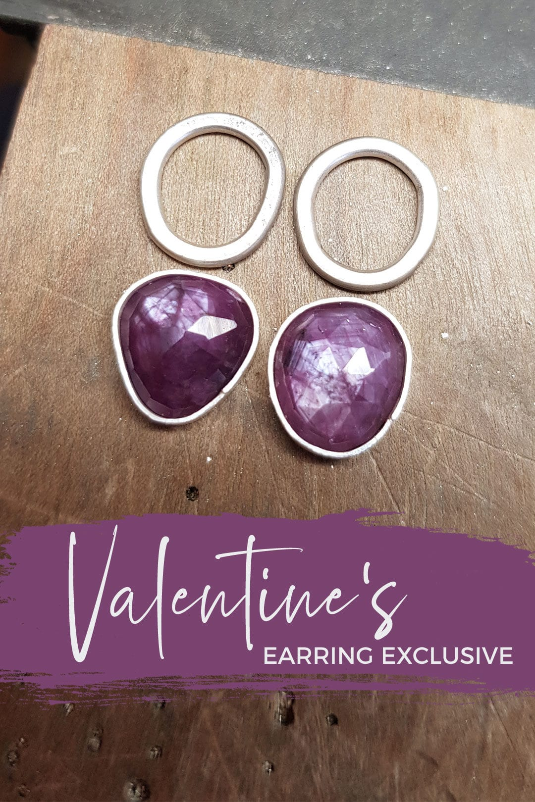 Exclusive Valentine's offer: pink sapphire earrings