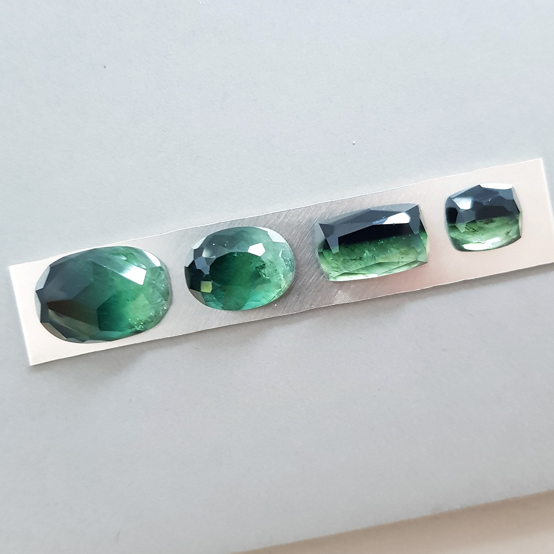 Selecting a green Tourmaline gemstone for a custom ring order