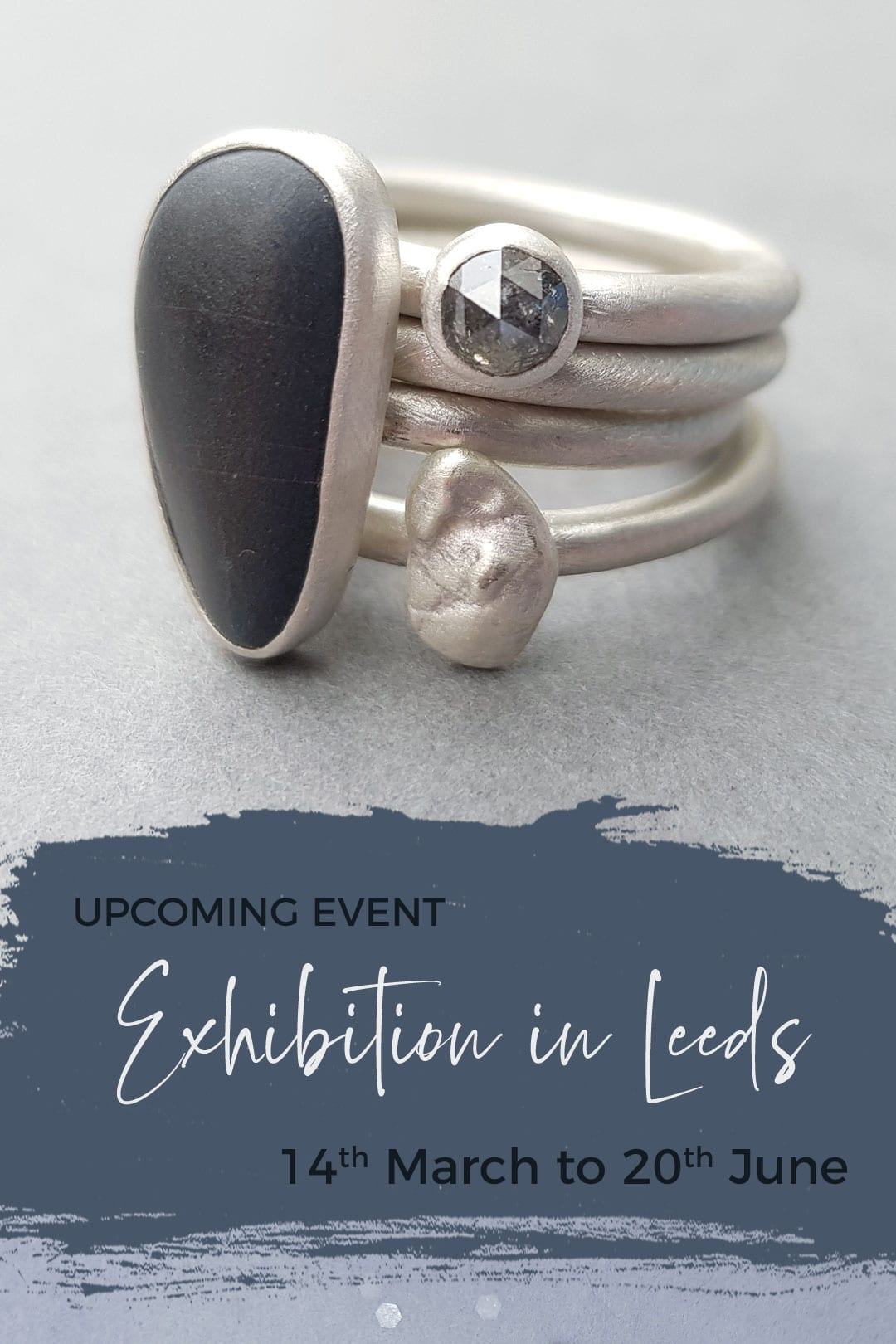 Pebble collection at Leeds jewellery exhibition