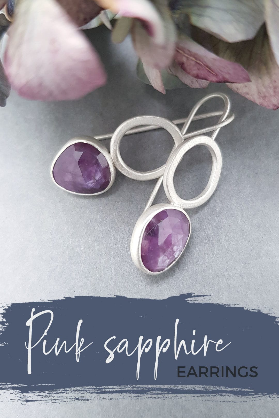 Pink sapphire earring exclusive!