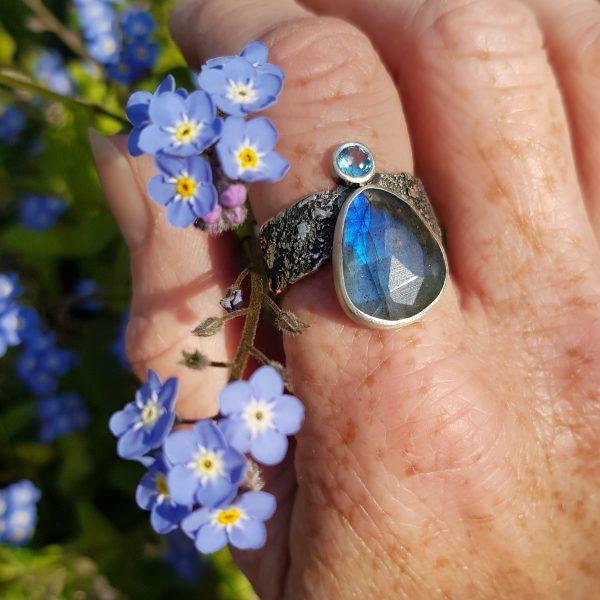 Handmade ring in spring colour
