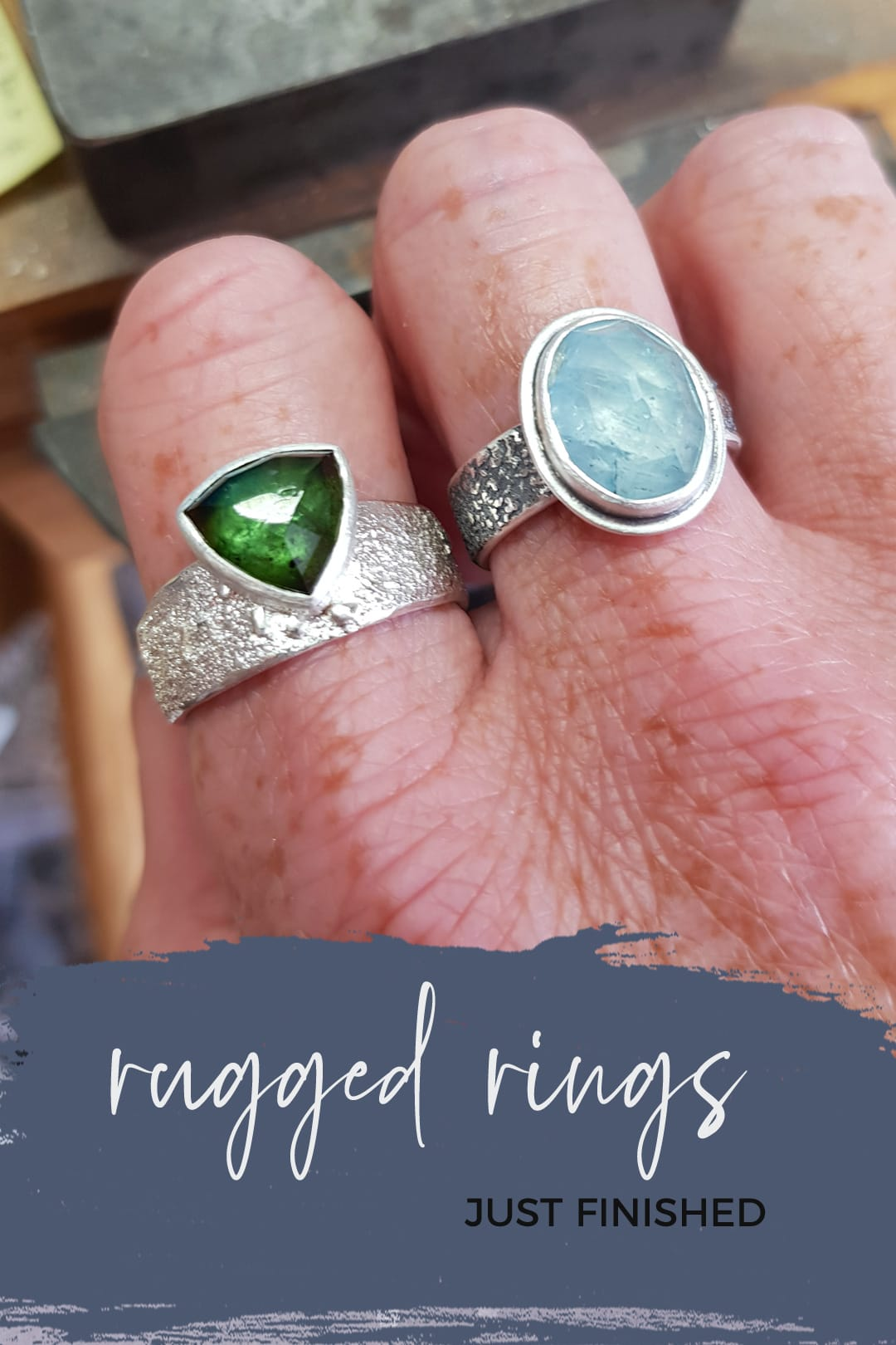 Glorious new Rugged collection rings finished