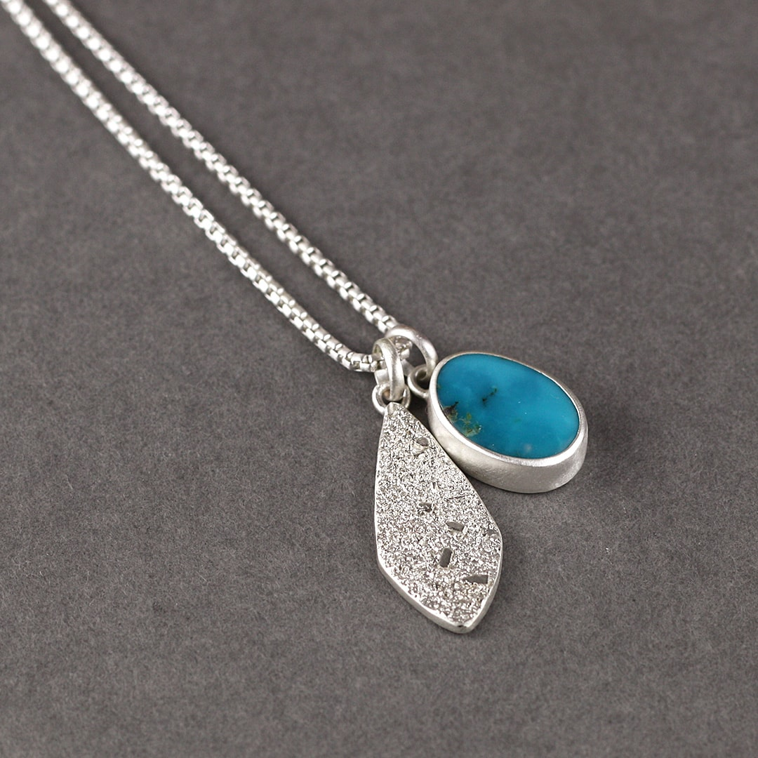 Turquoise and sterling silver pendants