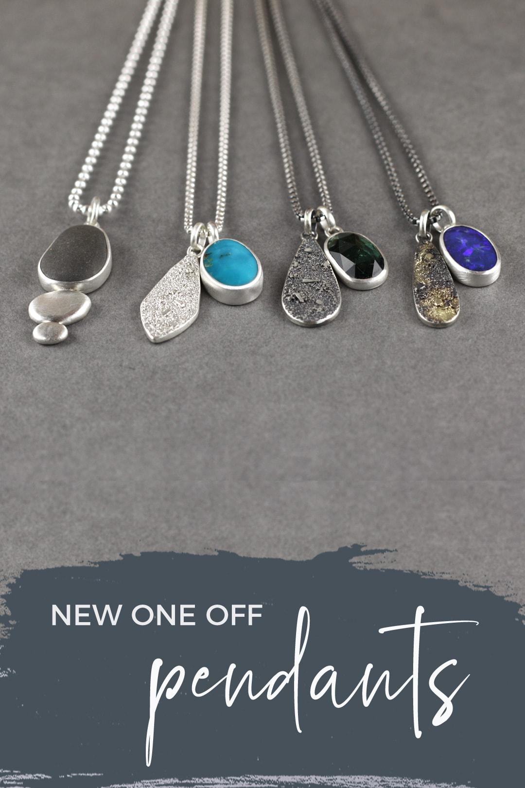 New blue gemstone Rugged pendants