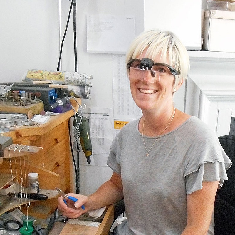 Carin Lindberg, Swedish jewellery designer based in Cornwall