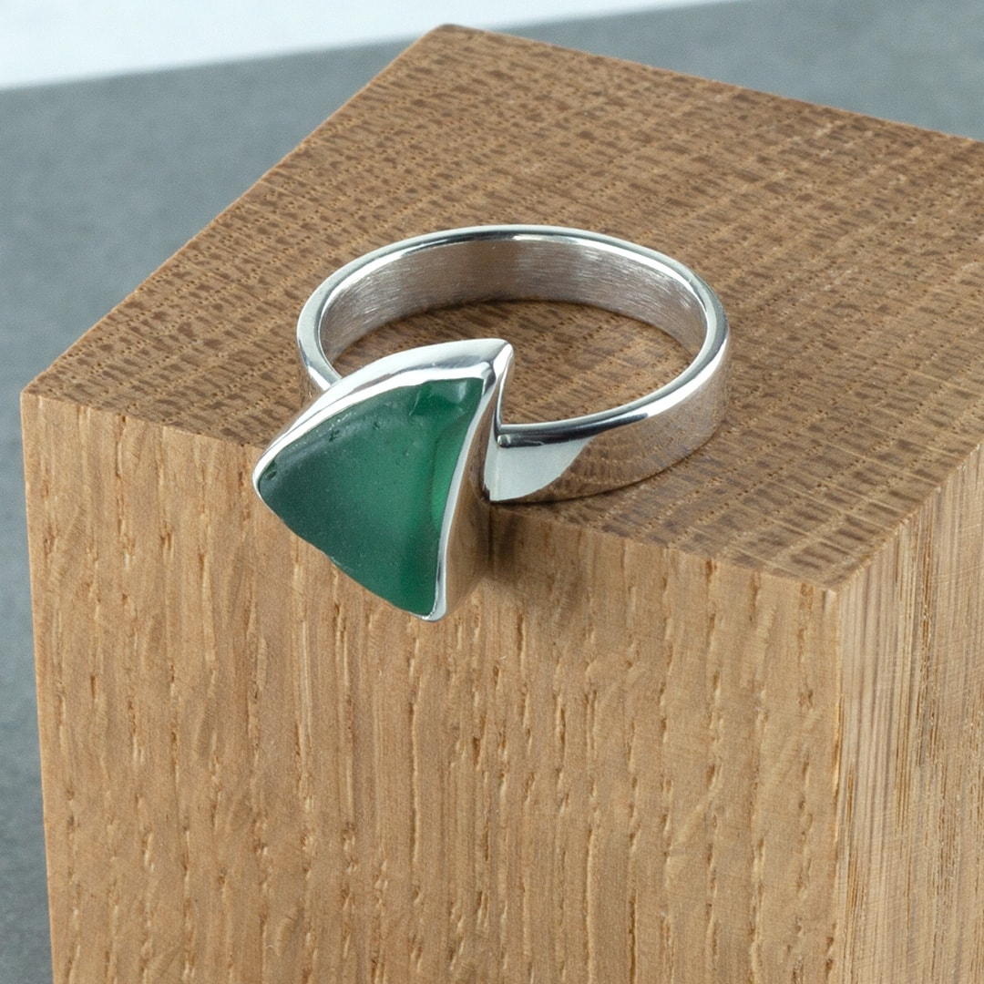 Sea glass ring commission