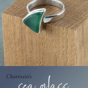 Charmain's sea glass ring commission