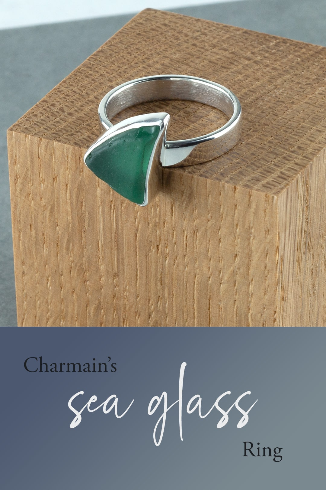 Charmain's sea glass ring commission