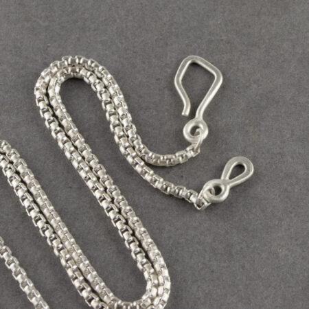 Handmade clasp in brushed sterling silver