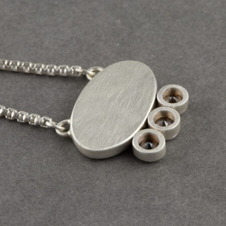 Back of dendritic agate necklace