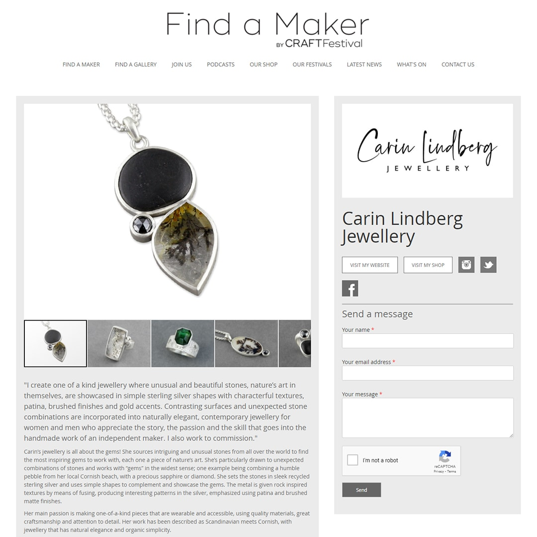 Carin Lindberg on Find A Maker craft directory