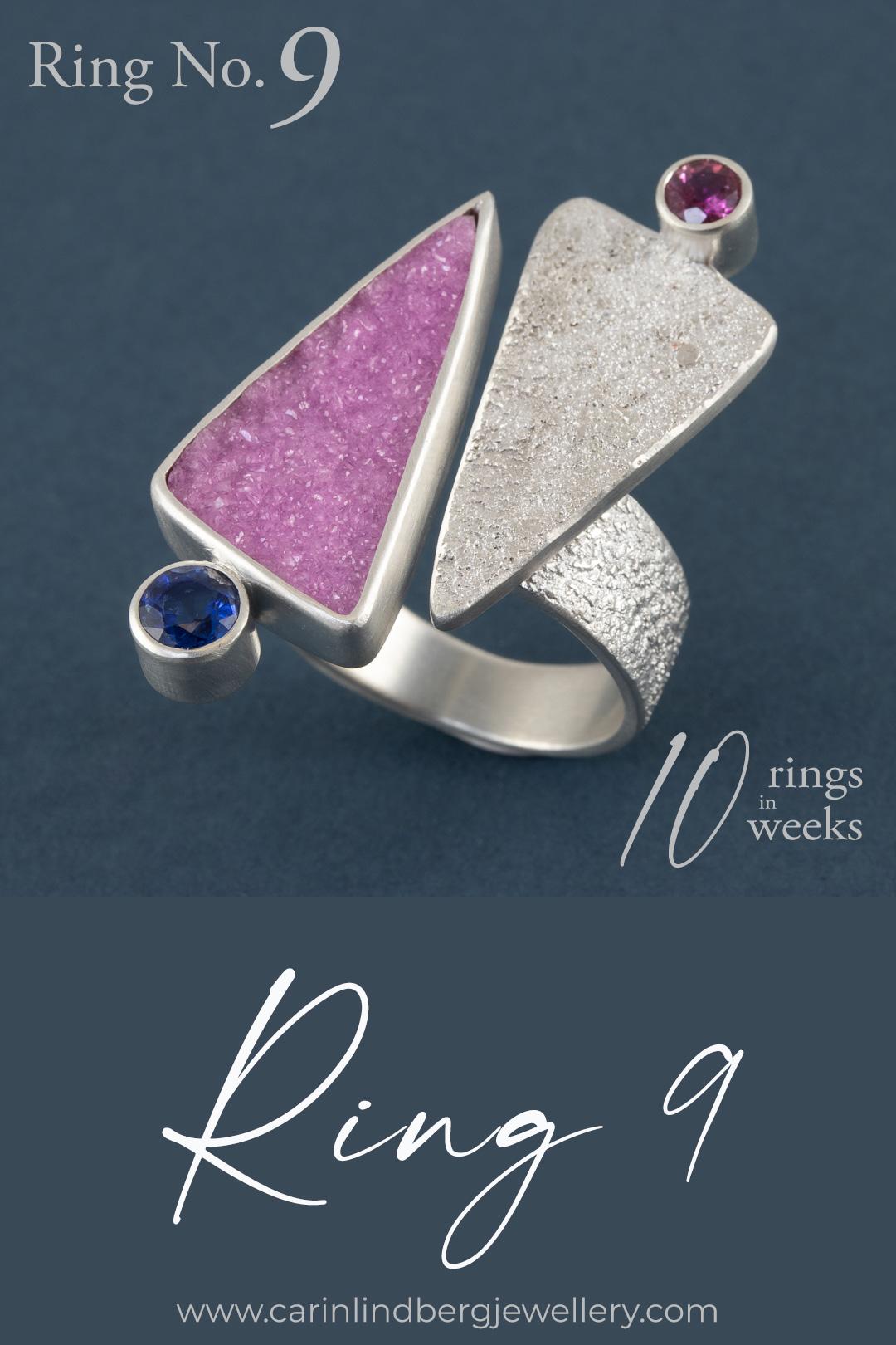 Cobalt calcite ring - an ode to the Foxglove