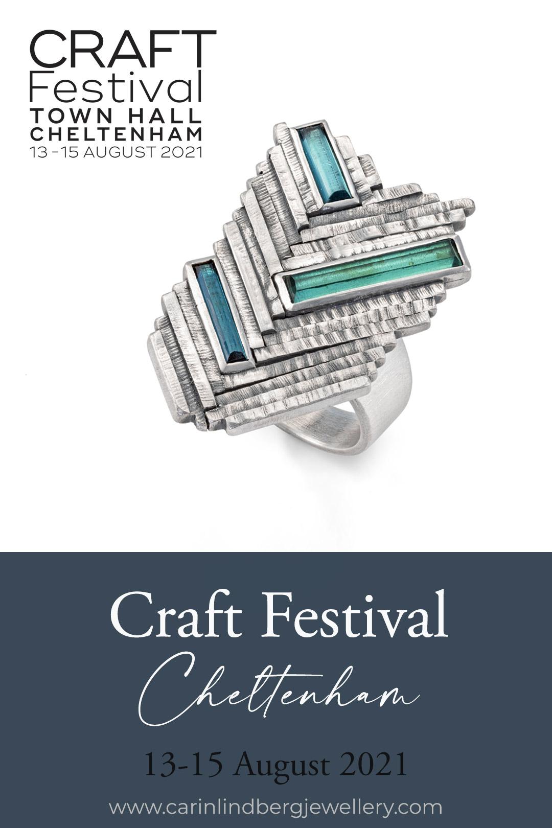 Carin Lindberg Jewellery exhibiting at Craft Festival Cheltenham 13-15 August 2021
